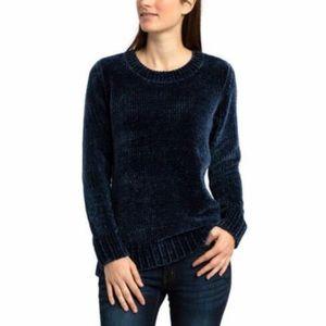 ORVIS Chenille Crewneck Pullover Sweater Blue